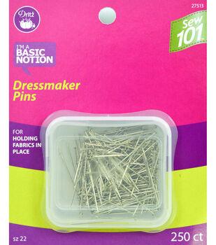 "Dritz 1.25"" Sewing 101 Dressmaker Pins 250pcs Size 20"
