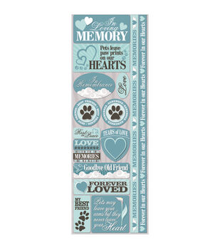 Signature Series Cardstock Combo Sticker Pet Loss