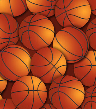Snuggle Flannel Fabric 42''-Brown Basketball