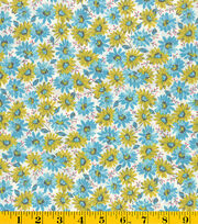 Made in America Cotton Fabric-Bunches Of Daisies, , hi-res