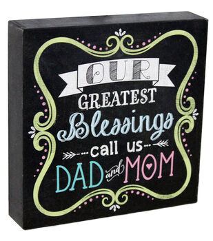 Escape To Paradise Wall Banner-Blessing Dad And Mom