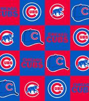 Chicago Cubs MLB Block Fleece Fabric, , hi-res
