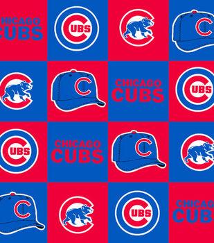 Chicago Cubs MLB Block Fleece Fabric