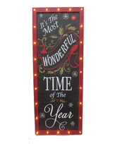 Maker's Holiday Wonderful Time Chalkboard Wall Decor, , hi-res