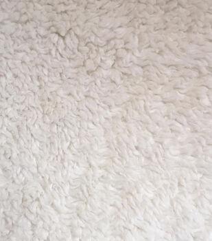 Luxury Faux Fur-Sherpa Ivory Fur Fabric