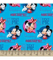 Disney® Mickey and Minnie Text Me Cotton Fabric, , hi-res