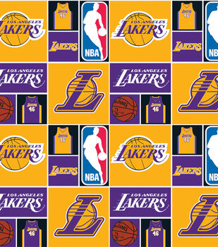 Los Angeles Lakers NBA  Cotton Fabric