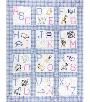 "Jack Dempsey Stmpd Nursery Quilt Blocks 9""X9""-ABC"