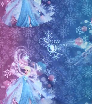 Disney Frozen Elsa Snow Queen Ombre Sheer Fabric