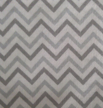 Snuggle Flannel Fabric Chevron Gray Small