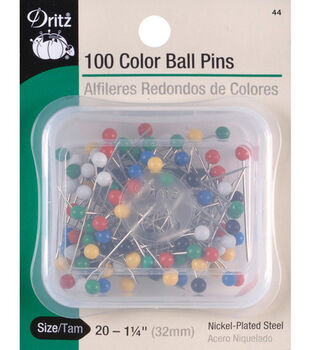 """Dritz 1.25"""" Steel Colorball Pins 100pcs Size 20"""