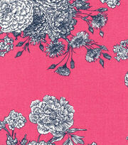 Keepsake Calico™ Cotton Fabric-Paisley Pink Floral, , hi-res