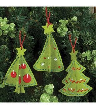 Dimensions Felt Applique Kit 3-D Ornaments