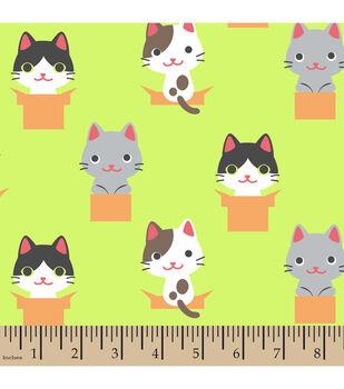 Snuggle Flannel Fabric-Peek A Boo Kitty