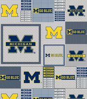 University of Michigan NCAA  Fleece Fabric, , hi-res