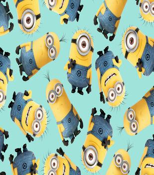 Minions Toss Blue Cotton Fabric