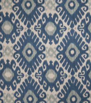 Home Decor  Print Fabric- Jaclyn Smith Ikat Rot Indigo
