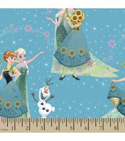 Disney® Frozen Print Fabric-Sisters and Olaf, , hi-res
