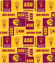 Arizona State NCAA Block Fleece Fabric, , hi-res
