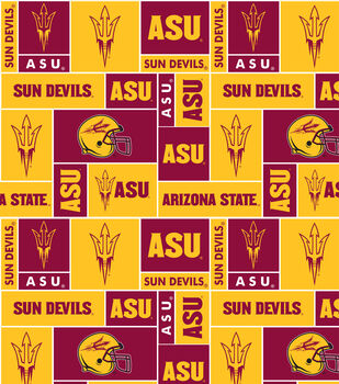 Arizona State NCAA Block Fleece Fabric