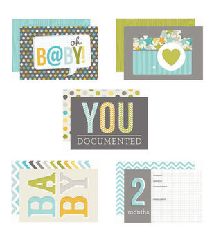 "Sn@p! Double-Sided Card Pack 4""X6"" 24/Pkg-Baby Boy"
