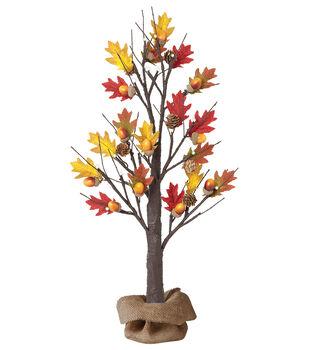 Art of Autumn 2 Foot LED Acorn Tree