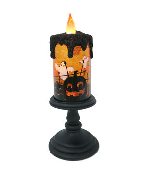 Maker's Halloween Tall LED Candle-Orange