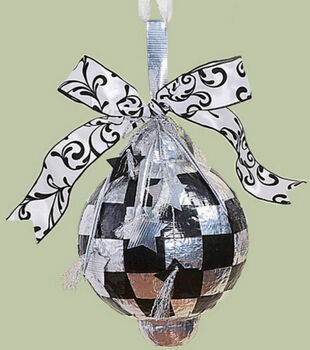 Silver Elegance Duct Tape Ornament