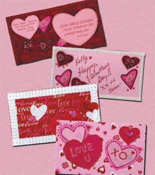 Valentine Fabric Postcards