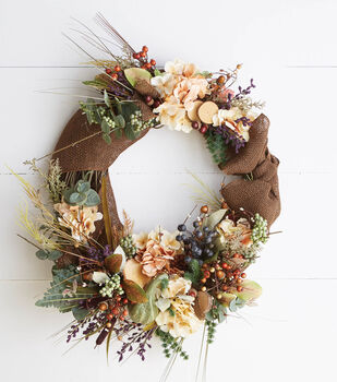 Fall Pre-Made Silk Floral Wreath