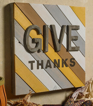 GIVE THANKS Large Palette Sign