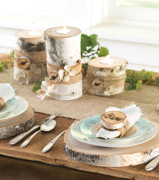 Birch tablescape