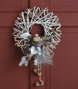 Twig Wreath With Bird