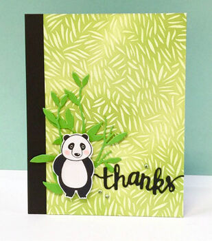 Panda Thanks Card