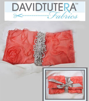 David Tutera Ribbon Tie Clutch