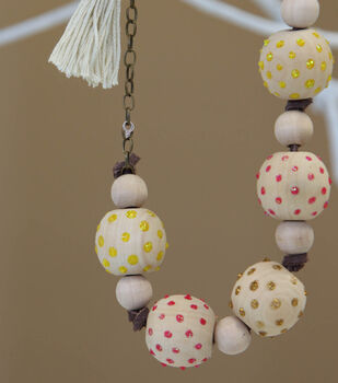 Lots of Dots Wooden Bead Necklace