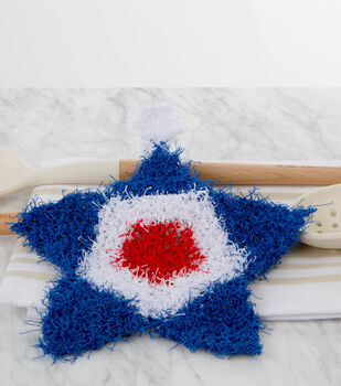 How To Make A Crochet Patriotic Scrubby Pattern