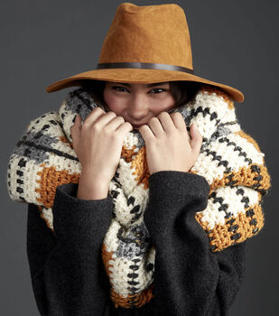 How To Make A Big Tartan Crochet Scarf