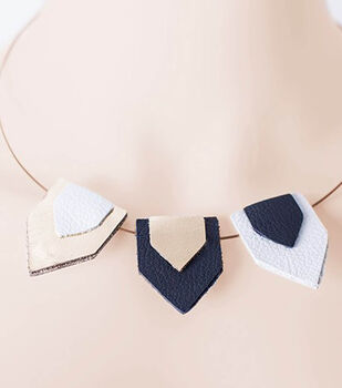 Leather Pennant Necklace