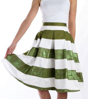 Lucky Stripes Shimmer Skirt