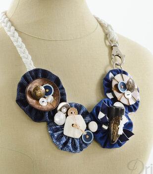 Nautical Yo-Yo and Button Necklace