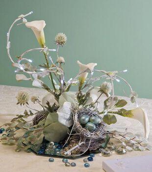 Lighted Lilies Centerpiece