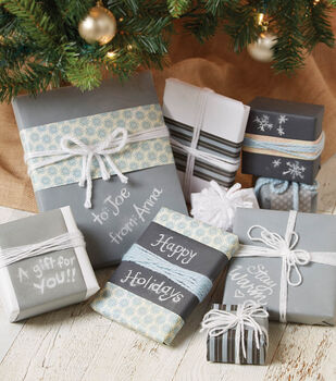 Makers Guide: Chalkboard Paper Wrapped Gifts