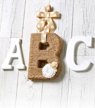Jute Wrapped Letter
