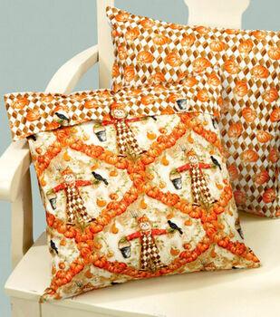 Pumpkin Print Accent Pillow