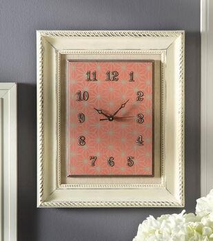 Home Décor Chalk Framed Clock