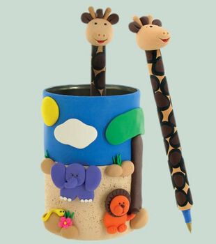 Giraffe Pen & Jungle Pen Holder