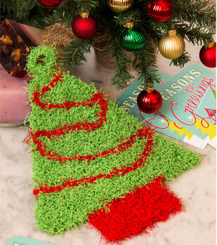 Christmas Tree Scrubby