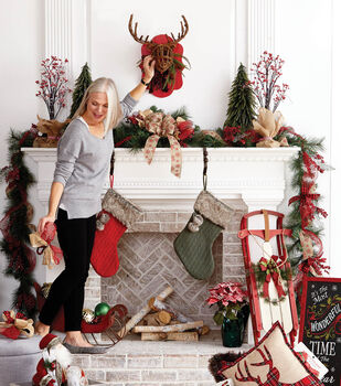 How To Make Garland For A Fireplace