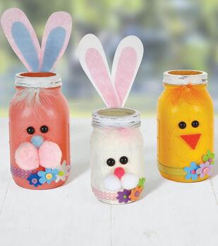 Chick and Bunny Treat Jars